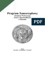 Program PiS 2014