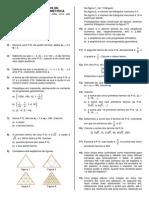 Lista de Exercícios de Progressão Geométrica