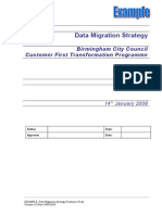 CHAMPS2 M P3 EXAMPLE Data Migration Strategy (Customer First)