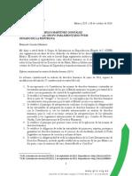 Carta al Senador Jorge Emilio Martínez González
