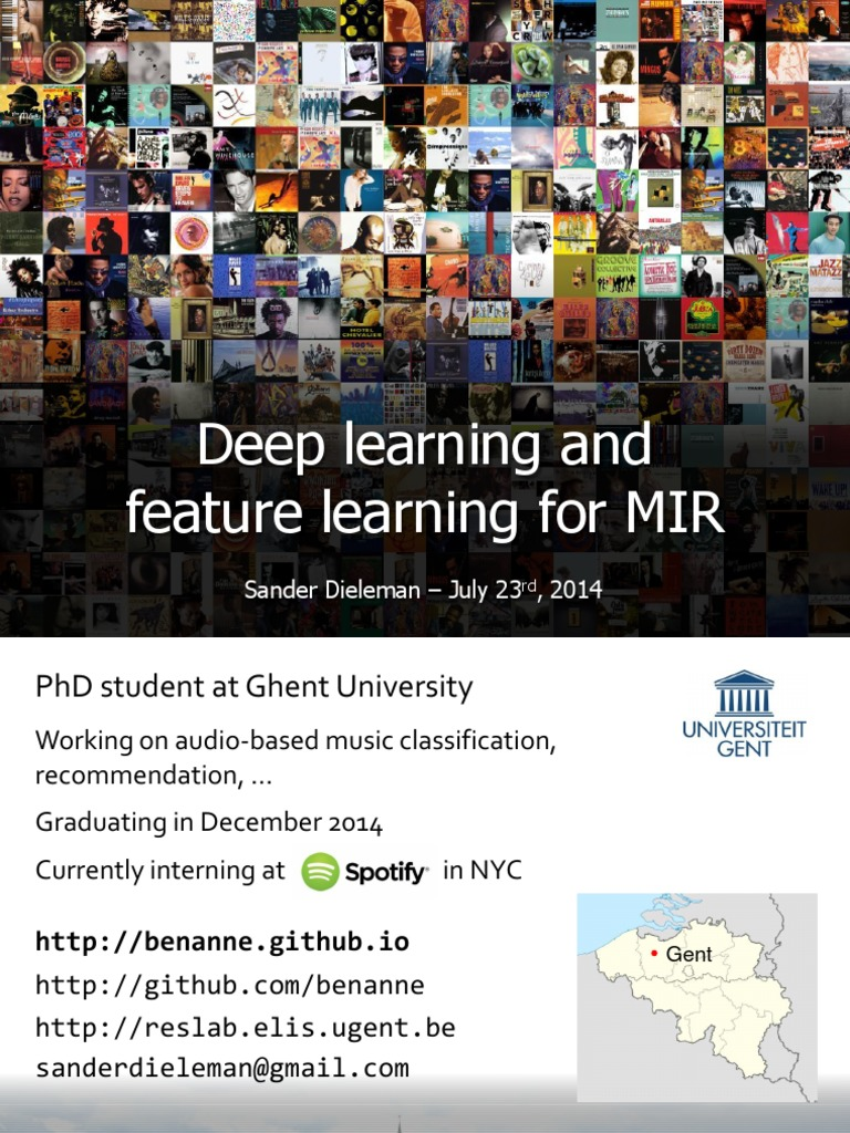 Deep Learning and Feature learning for MIR | Deep Learning