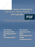 Language Means of Expressing Theme and Rheme