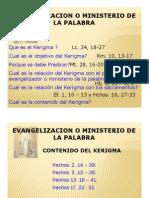 Kerigma y Evangelización