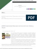 UNMSM Implementará Observatorio de Economía Social, Solidaria y Popular _ Notici