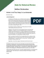 John - Behind the Balfour Declaration; Britain's Great War Pledge to Lord Rothschild
