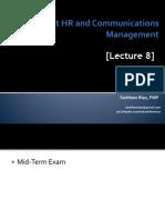 Project HR and Comm Management (Lec 8 & 9)