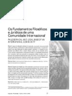 fundamentos filosóficos e jurídicos de uma comunidade internacional