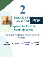 Cost  Accounting Break Even Analysis