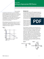 Littelfuse Selecting an Appropriate Esd Device Application Note