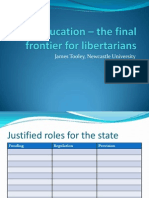 Education – the final frontier for libertarians