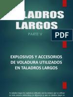 5. Taladros Largos  en mineria subterranea