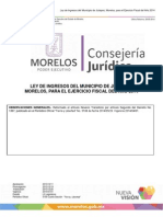 Ley IngresosJiutepec 2014