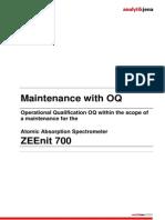 Analytikjena ZEEnit 700 - Maintenance OQ