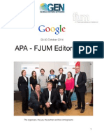 White Paper of the APA - FJUM Editors Lab