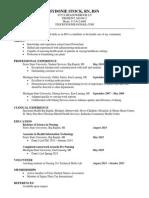 sydonie stock resume