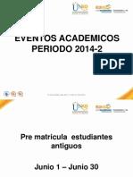 Capsulas Segundo Periodo 2014 - 2s
