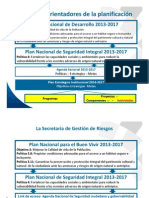La Gestión de Riesgos en La Planificación Nacional.