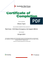 red cross   ecd basic emergency life support bels certificate