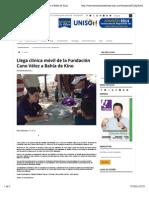 28-09-14 Llega clínica móvil de la Fundación Cano Vélez a Bahía de Kino