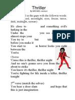 Ejercicio de Ingles Thriller