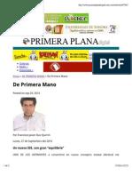 27-09-14 Primera Mano | Columna Ruiz Quirrin