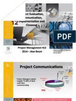PM412 Chapter 12 - Project Evaluation Communication Implementation and Closeout - Lecture 2