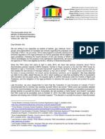 OUTlaws Letter to Minister Virk - 6 November 2014