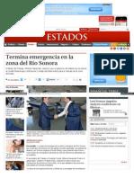 04-11-14 Termina emergencia en la zona del Río Sonora
