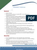 WEBERP Features Document