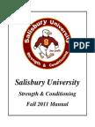 Salisbury University Strength & Conditioning Manual