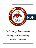 Salisbury University Strength & Conditioning Manual