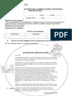 Evaluación de Lenguaje y Comnucación 6 Agosto