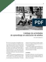 Catálogo de Actividades de Aprendizaje UCEM