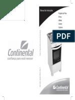 Manual dos fogões da marca Continental