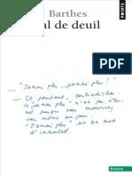 Barthes_Journal de Deuil