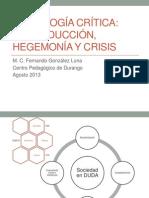 Hegemonía, Cultura y Crisis