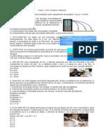Exercícios Revisão Sobre Lançamento de Projéteis