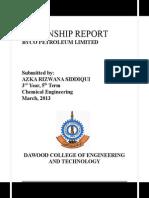 Internship Report BYCO