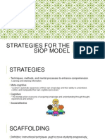 strategies for the siop model