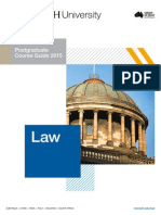 Monash Law Postgraduate Course Guide 2015