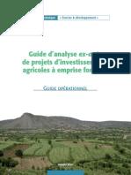 Guide Opérationnel _ Guide d'Analyse Ex-Ante de Projets d'Investissements Agricoles à Emprise Foncière