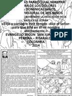 HOJITA EVANGELIO  DEDICACIÓN BASÍLICA DE LETRÁN BN
