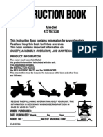 murray riding mower owners manual