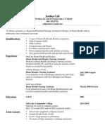 jordan call resume