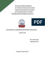 Unidad de clases- (materia Evaluación)