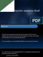 Isoinmunización Materizno-fetal