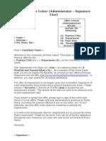 Sample Offer Letter Signatureline