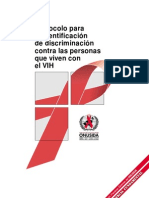 Protocolo para la identificación de discriminación contra las personas que viven con el VIH, noviembre de 2001 - ONUSIDA 318