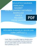 Preesentación Religión Resumen Juan 5