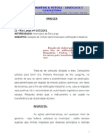 Rio Largo - Parecer - Doação de Imóvel Dominical - Indústria